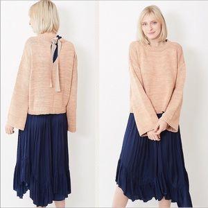 ULLA JOHNSON - Thalia Keyhole sweater, Peach M